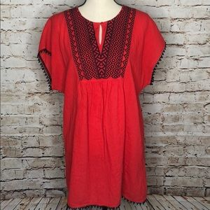 Tops - J. Crew Factory Embroidered Pom-Pom Tunic